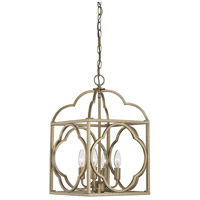 Light Visions PL0123NB Contemporary 4 Light 12 inch Natural Brass Foyer Ceiling Light