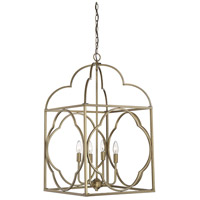 Light Visions PL0124NB Contemporary 4 Light 18 inch Natural Brass Foyer Ceiling Light