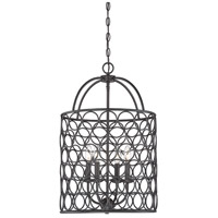 Light Visions PL0126ORB Industrial 4 Light 16 inch Oil Rubbed Bronze Foyer Ceiling Light
