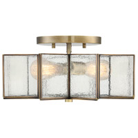 Light Visions PL0127NB Art Nouveau 2 Light 16 inch Natural Brass Semi Flush Mount Ceiling Light