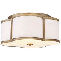 Light Visions PL0129NB Transitional 3 Light 16 inch Natural Brass Semi Flush Mount Ceiling Light