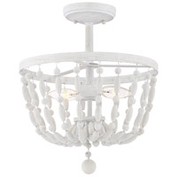 Transitional 2 Light 13 inch Distressed Wood Semi Flush Mount Ceiling Light