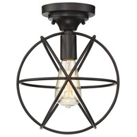 Light Visions PL0135ORB Transitional 1 Light 10 inch Oil Rubbed Bronze Flush Mount Ceiling Light