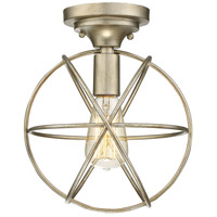 Light Visions PL0135SG Transitional 1 Light 10 inch Silver Gold Flush Mount Ceiling Light