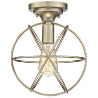 Light Visions PL0135SG Transitional 1 Light 10 inch Silver Gold Flush Mount Ceiling Light