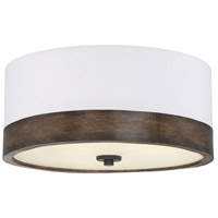 Light Visions PL0136WWD Mid-Century 3 Light 18 inch Walnut Wood Flush Mount Ceiling Light