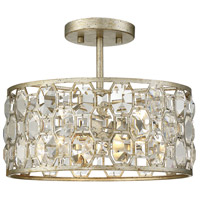 Light Visions PL0138SG Transitional 2 Light 13 inch Silver Gold Flush Mount Ceiling Light