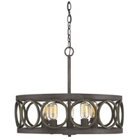 Light Visions PL0150FAW Contemporary 5 Light 22 inch Fossil Stone and Aged Wood Pendant Ceiling Light