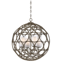 Light Visions PL0152CL Contemporary 4 Light 24 inch Chateau Linen Pendant Ceiling Light