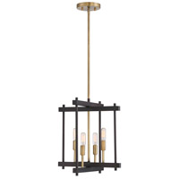Light Visions PL0156ORBNB Contemporary 4 Light 14 inch Oil Rubbed Bronze with Brass Accents Pendant Ceiling Light