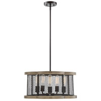 Light Visions PL0158DG Industrial 5 Light 20 inch Remmington Pendant Ceiling Light