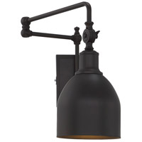 Industrial 1 Light 6 inch Oil Rubbed Bronze Wall Sconce Wall Light