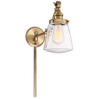Contemporary 1 Light 6 inch Natural Brass Wall Sconce Wall Light