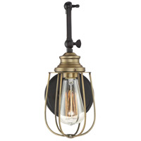 Industrial 1 Light 5 inch English Rubbed Bronze with Brass Accents Wall Sconce Wall Light