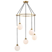 Light Visions PL0175NB Modern 5 Light 26 inch Natural Brass Pendant Ceiling Light