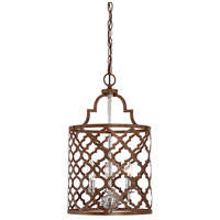 Light Visions PL0178DWCH Transitional 3 Light 12 inch Dark Wood and Chrome Foyer Ceiling Light