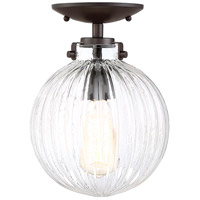 Light Visions PL0181ORB Transitional 1 Light 8 inch Oil Rubbed Bronze Semi Flush Ceiling Light