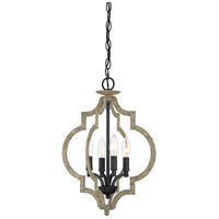 Light Visions PL0182WRB Transitional 4 Light 14 inch Weathered Birch Foyer Ceiling Light