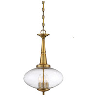 Light Visions PL0190NB Transitional 3 Light 14 inch Natural Brass Pendant Ceiling Light