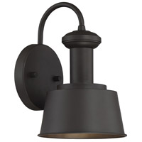 Light Visions PL0204ORB Industrial 1 Light 10 inch Oil Rubbed Bronze Outdoor Sconce