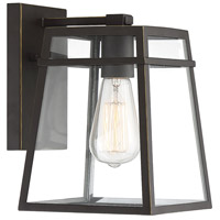 Light Visions PL0205ORBG Farmhouse 1 Light 10 inch Oil Rubbed Bronze/Gold Outdoor Sconce