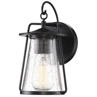 Light Visions PL0207BK Farmhouse 1 Light 11 inch Matte Black Outdoor Wall Sconce