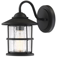 Light Visions PL0208BK Farmhouse 1 Light 10 inch Matte Black Outdoor Wall Sconce
