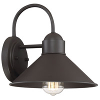 Light Visions PL0212ORB Industrial 1 Light 10 inch Oil Rubbed Bronze Outdoor Wall Sconce