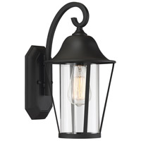 Light Visions PL0217BK Farmhouse 1 Light 14 inch Matte Black Outdoor Wall Sconce