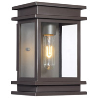 Light Visions PL0219ORB Farmhouse 1 Light 10 inch Oil Rubbed Bronze Outdoor Wall Sconce