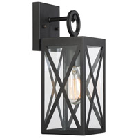 Light Visions PL0221BK Farmhouse 1 Light 14 inch Black Outdoor Wall Sconce