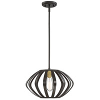 Light Visions PL0227ORBNB Industrial 1 Light 16 inch Oil Rubbed Bronze/Natural Brass Mini Pendant Ceiling Light in Oil Rubbed Bronze/Brass