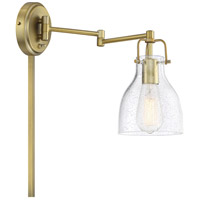 Light Visions PL0229NB Transitional 1 Light 6 inch Natural Brass Wall Sconce Wall Light, Adjustable photo thumbnail