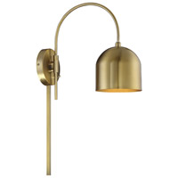 Light Visions PL0231NB Industrial 1 Light 6 inch Natural Brass Wall Sconce Wall Light Adjustable