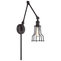 Light Visions PL0232ORB Industrial 1 Light 6 inch Oil Rubbed Bronze Sconce Wall Light