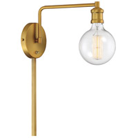 Light Visions PL0235NB Industrial 1 Light 5 inch Natural Brass Sconce Wall Light