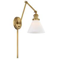 Light Visions PL0237NB Mid-Century 17 inch 60 watt Natural Brass Swing-Arm Wall Sconce Wall Light