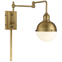 Light Visions PL0238NB Industrial 1 Light 7 inch Natural Brass Sconce Wall Light