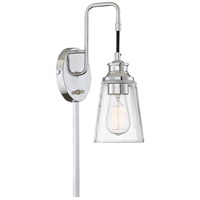 Light Visions PL0239CH Industrial 1 Light 5 inch Chrome Sconce Wall Light