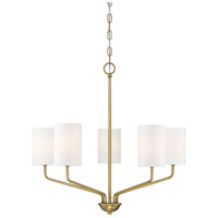 Light Visions PL0248NB Traditional 5 Light 25 inch Natural Brass Chandelier Ceiling Light