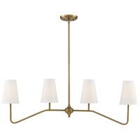 Light Visions PL0253NB Modern 4 Light 5 inch Natural Brass Chandelier Ceiling Light