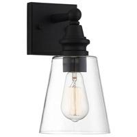 Light Visions PL0258BK Farmhouse 1 Light 11 inch Matte Black Outdoor Sconce