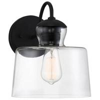 Light Visions PL0259BK Farmhouse 1 Light 11 inch Matte Black Outdoor Sconce