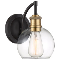 Light Visions PL0262ORBNB Farmhouse 1 Light 10 inch Oil Rubbed Bronze/Brass Outdoor Sconce