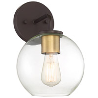 Light Visions PL0271ORBNB Farmhouse 1 Light 12 inch Oil Rubbed Bronze/Brass Outdoor Sconce