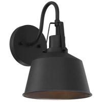 Light Visions PL0276BK Farmhouse 1 Light 12 inch Matte Black Outdoor Sconce