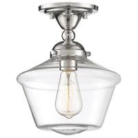 Light Visions PL0279PN Mid-Century Modern 1 Light 9 inch Polished Nickel Semi Flush Ceiling Light