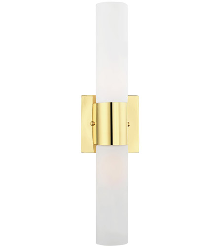 Livex 10102-02 Aero 2 Light 18 inch Polished Brass Vanity Light Wall Light photo