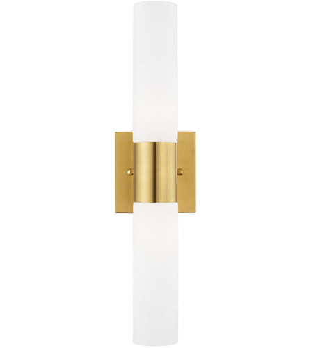 Livex 10102-12 Aero 2 Light 18 inch Satin Brass Vanity Light Wall Light photo