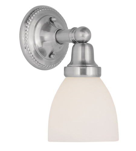 Livex Lighting Classic 1 Light Bath Light in Brushed Nickel 1021-91 photo